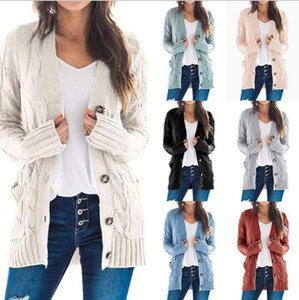 sweater women 2020 autumn   winter new women's casual cardigan jacket twist button cardigan Women's sweater