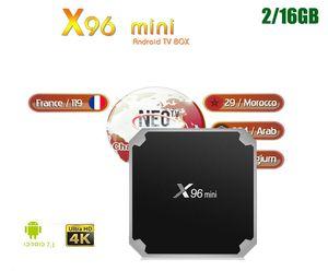FRANCE NEOx X96 Mini Amlogic S905W Android 7.1 receiver 4K TV Box Quad Core 2G16G Netflix Game Sport Europe
