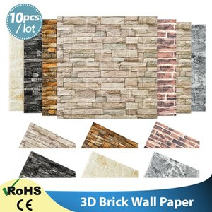 Wallpaper DIY Brick Stone Pattern Self-Adhesive Waterproof 3D Wall Stickers Kitchen Backsplash Bathroom Tile Wallpapers