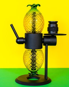 Pineapple Globe 360° rotating Gravity Hookah E Cigarette Kit Party Vaporizer Rotatable Glass Bong Smoking Pipe for Wax Herb Concentrate Vapers