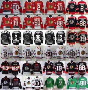 عكس الرجعية شيكاغو Blackhawks جيرسي الهوكي دنكان كيث 19 جوناثان تي نيوز باتريك كين كروفورد أليكس داخ كلارك جريسوولد 8 دومينيك كوباليك