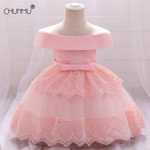 Beads Flower Girls Wedding Dress Baby Christening Tutu es For Party Occasion Kids 1 Year Girl Birthday 210508