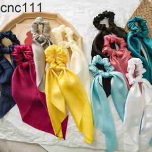 Mulheres multicolorais Headwear Turbante DIY Bow Streamers Scrunchies Fita Gravatas Fashion Band Accessories