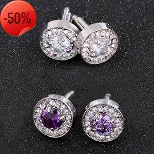 Jewelry men's sleeve crystal glass Cufflinks shirt pin pattern