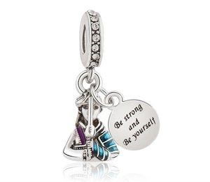 Convient aux bracelets Pandora 20pcs Hua Mulan Soyez forte Soyez-vous SOI SOI SOIN SILAN CHARMES PERLE POUR FEMMES Faire bricolage Collier européen Bijoux Accessoire