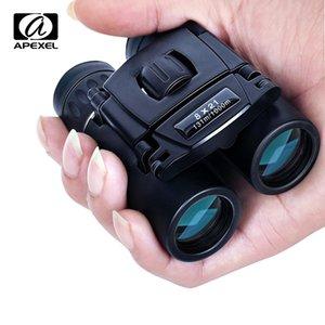 Apexel 8x21 Compact Zoom Binoculars Большой диапазон 1000 м Складной HD мощный мини-телескоп Bak4 FMC Optics Hunting Sports Camping