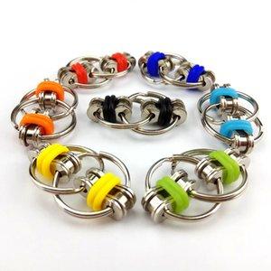 2021 Metall Puzzle Kette Zappeln Spielzeug für Autismus Antistress Set Anti Stress Linderung ADHS Hand Spinner Key Ring Sensory Spielzeug