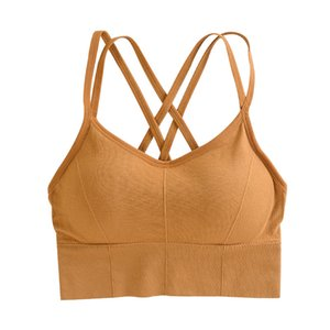 Push Up Brassiere Padded Gym Fitness Bras Crop Tops Women Plain Soft Yoga Workout Sports Bra with Removable Pads