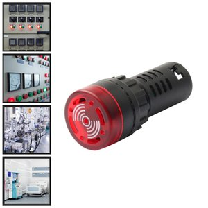 DC 12V 24V 220V 22mm AD16-22SM Red LED Flash Alarm Indicator Light Signal Lamp with Buzzer