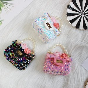 Kids Mini Purses and Handbags Cute Princess Crossbody Bags for Baby Girls Small Coin Pouch Girl Party Pearl Hand Bags Gift