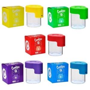 LED Ampliación de la tarro de escondite MAG Magnifique la visualización del contenedor Caja de almacenamiento de vidrio USB Recargable Luz de olor a prueba de almacenamiento
