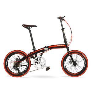 Inches Folding Bicycle, 7 Speeds Bike, Aluminium Alloy Frame, BMX, Both Disc Brakes Bikes
