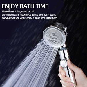 Pressurized Bath Shower Head Jetting High Pressure Water Saving Adjustable Bathroom Accessories SetH0916