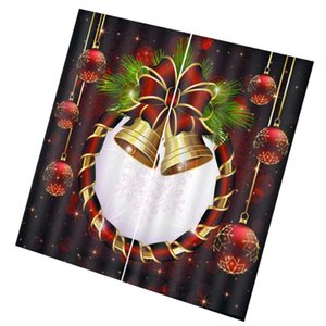Curtain & Drapes 1pc Christmas Bell Snowflake Printed Room Decoration For Home El Shop