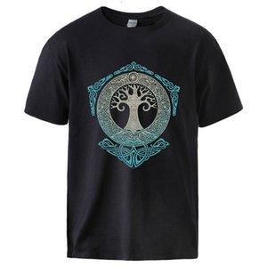 Homme Yggdrasil Norse Mythologie Été Coton T-shirts Homme Casual manches courtes Créwneck Sportswear tee