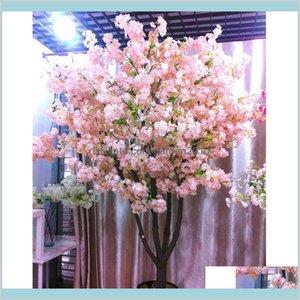 Decorative Flowers & Wreaths Festive Party Supplies Home Garden 160 Heads Silk Cherry Blossom Artificial Flower Bouquet Tree For Decor