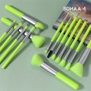 MAANGE Fluorescent Series Makeup Brushes Tool Set Powder Eye Shadow Foundation Blush Blending 15pcs Make Up Brush Kit Brocha De Maquillaje
