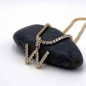 Pendant Selling Zircon 26 English Alphabet Necklace with Diamond Chain Can Be Sold Separately
