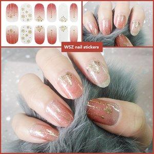 N012 Manicure Nail sticker all durable 3D tiktok Constellation Series cross border gradien stamping Glitter powder enhancement summer translucent