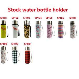 10 Farben Neopren-Trinkwasser-Wasser-Flaschenhalter isolierte Hülsenbeutel Case Tasche Tasse Abdeckung für 500ml CYZ3077