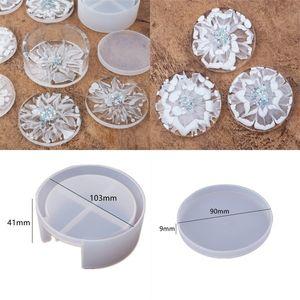 Diy Epoxy Resin Silicone Molds Craft Tools Circular White Crystal Coaster Drop Glue Round Storage Box Mould Transparent 9 5rh M2 EBOS