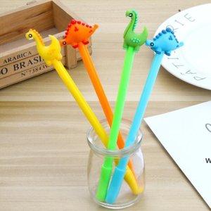 만화 크리 에이 티브 공룡 젤 펜 귀여운 프로 모션 선물 실리콘 편지지 펜 학생 학교 사무실 공급 DHE5784