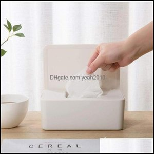 Boxes Napkins Table Decoration Aessories Kitchen, Dining Bar & Gardendry Wet Paper Case Care Baby Napkin Storage Box Home Tissue Wipes Dispe