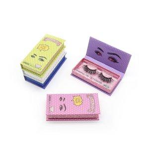 False Eyelashes LASHWOODS Eyelash Packaging Box Wholesale Empty Cardboard Lash Custom Logo Free Plastic Tray
