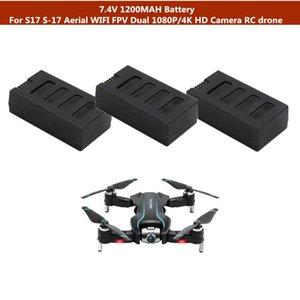 S17 S-17 Outside Aerial WIFI FPV Dual 1080P 4K HD Camera RC drone 1PCS 2PCS 3PCS 7.4V 1200mAh Battery Spare Parts
