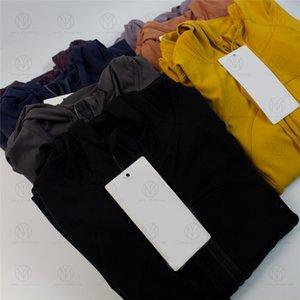 Йога Куртки Носит с капюшоном Определить женские дизайнеры Спортивные куртки Пальто Двусторонняя Шлифовальная Фитнес Читающие толстовки с длинным рукавом Одежда
