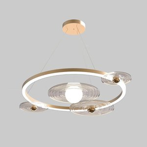 Chandeliers Creative Gold LED Modern Nordic Designer Round Art Hanging Lamp For Children Living Room Bedroom Dining Home Deco