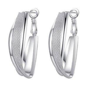 Fashion Jewellery Hoop Earing For Women Silver Plated Earings Design Wedding Earring Brinco Bijoux WE-096 & Huggie