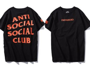 GD kanye with assc letter UND joint short sleeve t-shirt anti social club beautiful tide male and female couple