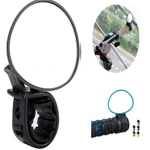 Wholesale-New Arrival Black Adjustable 360 Degree Rotate Rear View Mirror Bicycle Road Bike Handlebar