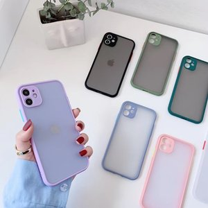 2021Camera Protection Bumper Phone Cases For iPhone 11 Pro XR XS Max X 8 7 P20 P30 Matte Translucent Shockproof Back Cover Wholesale DHL