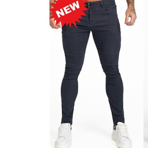 Men's Jeans 2021 Blue Slim Fit Super Skinny For Men Street Wear Ankle Tight Cut Closely To Body Big Size Stretch