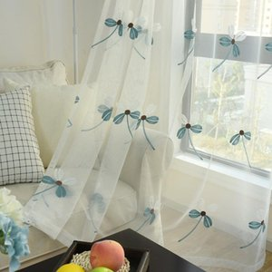 Curtain & Drapes Four Leaf Clover Embroidered For Bedroom Elegant Mesh European Modern Simple Window Treatment Nets M070C