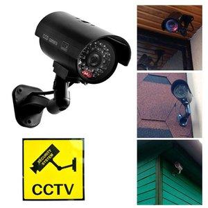 Cámaras 2021 Inicio Tienda de oficina Seguridad Videocámara Videocámara Negro impermeable impermeable Falso Felicitación LED Luz CCTV Accesorios