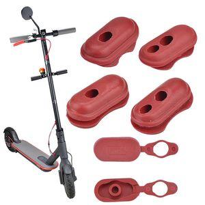 4 pçs cobrança tampa de porta plugue de poeira caso de borracha vermelha scooter elétrico peças de alta qualidade acessórios de skate para xiaomi m365 437 z2