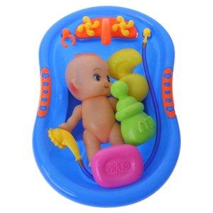 Minyatür HBB Banyo Bebek Ile Set Bebek Pop Kötü Çocuklar Için Su Sürüş Oyuncaklar Erken Eğitim