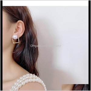 Jewelry Drop Delivery 2021 925 Sier Needle Dongdaemun Trendy Simple Glossy Pearl Stud Earring Wild Temperament Girl Earrings 45 T2 Gatk6