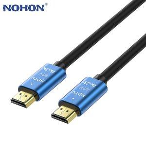 NOHON 4K 60HZ -COMPATIBLE CABLE 1,5 м 3 м 5 м Высокая скорость 2.0 золотой покрытый соединительный шнур для UHD FHD 3D XBOX PS3 PS4 TV Audio Coables CO