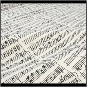 Clothing Apparel Drop Delivery 2021 Music Note Printed Linen Cotton Fabric Tablecover Home Decor Material Craft 150Cm Wide Sold By Yard Otkk#