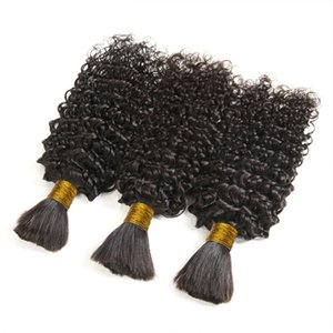 "Kinky Curly bulk Bundles Virginn Brazilian Human Hair Extension Weave Deep For Women 100g 14""16""18""20""22""24""26""28"" Factory Wholesale Price"