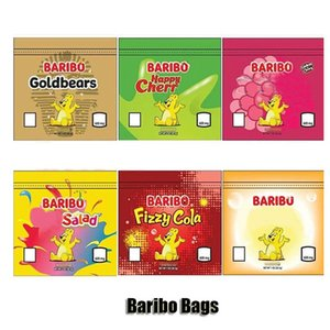 600mg Baribo Bags Resealable Edibles Goldbears Happy Cherries Berries Fruit Salad Fizzy Cola Peaches Empty Mylar Packaging 6 Colors DHL