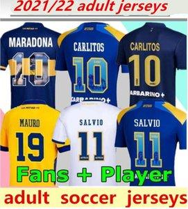 21 22 Boca Juniors Soccer Jersey Carlitos Maradona Tevez de Rossi 2021 Terza Casa Away 3a 4a Tailandia da calcio da uomo uniforme