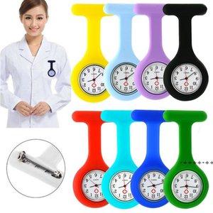 Nurse Pocket Watch Clocks Silicone Clip Brooch Key Chain Fashion Coat Doctor Quartz Watches EWA8779