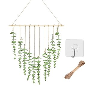 Decorative Flowers & Wreaths Rustic Greenery Home Decor Fake Leaf Farmhouse Wall Hanging Artificial Plant Entryway Party Living Room Bedroom