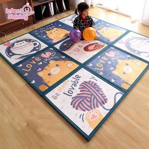 Baby 2cm Jigsaw Puzzle Crawl Pad Stitched Floor Splintered Family Children Thickened Foam Anti-fall Mat Tatami 210401
