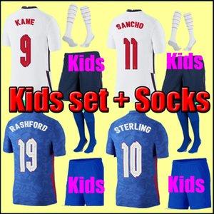 Таиланд Качество Тайский футбол Джерси 2021 Kane Sharling Rashford Lingard Vardy 20 21 Национальные футболки Мужчины + Детские комплекты Униформа